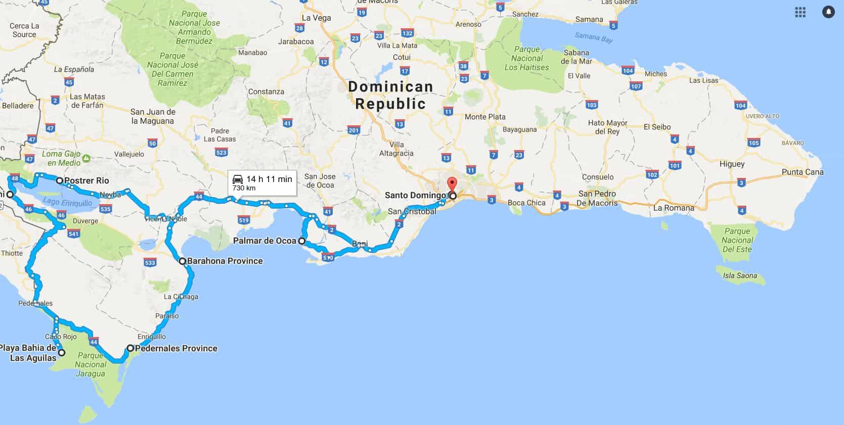 The best Road trips in The Dominican Republic
